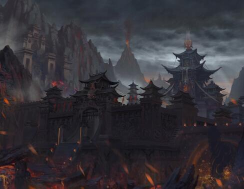 山景類型的游戲原畫作品集