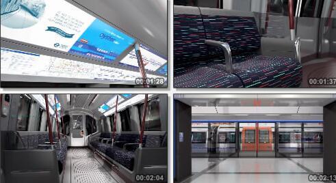 地铁构造三维成片