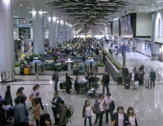 机场大厅 等候厅实拍片段