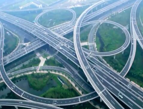 立交桥 常州交通实拍片段