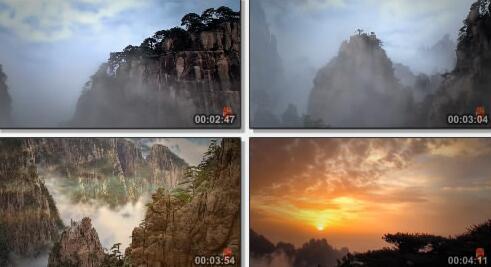 黄山景色实拍长片