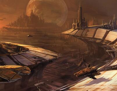 科幻類型的游戲場景原畫