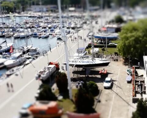 游艇码头实拍片段