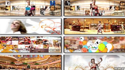 商业展示三维片段