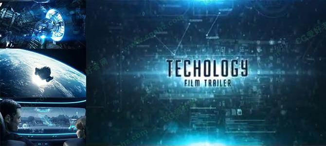 大气震撼的科幻电影宣传预告AE模板