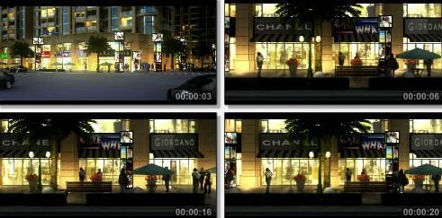 沿街商业三维片段