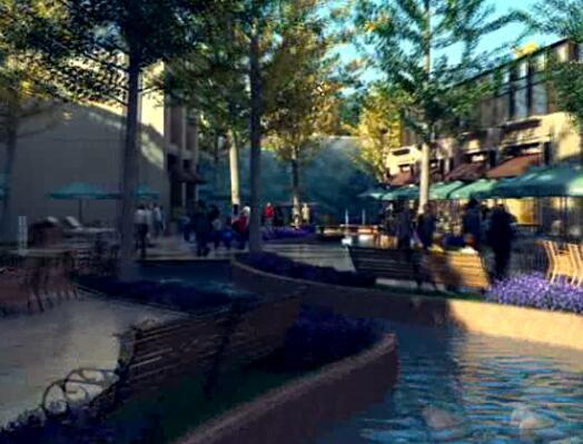 商业街展示三维片段