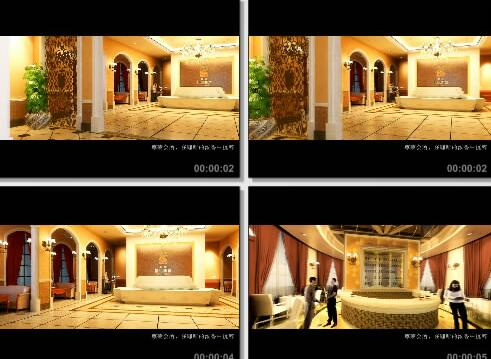 会所室内三维片段