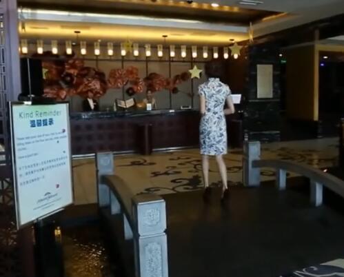 古典风格酒店大堂实拍片段