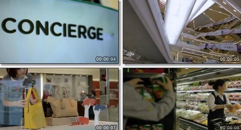 商场超市实拍片段