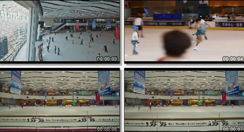 溜冰场实拍片段