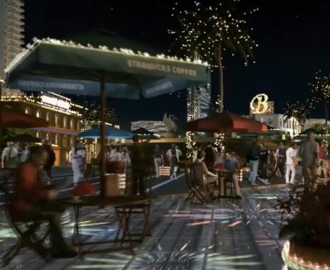 商场夜景三维片段