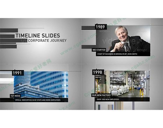 2款时间线主题的平移式内容展示AE工程