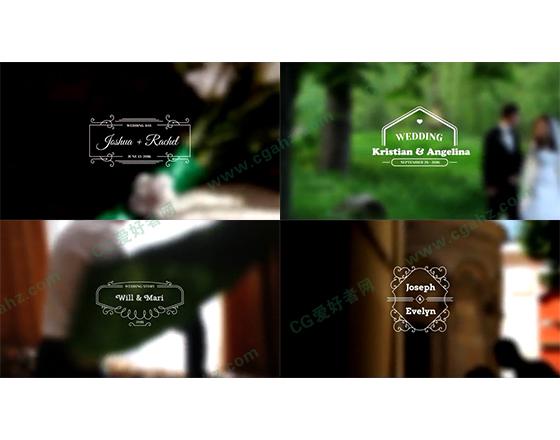清新简约的婚礼主题标签设计AE源文件vol.03