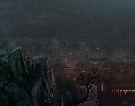 有山景的游戲原畫作品集