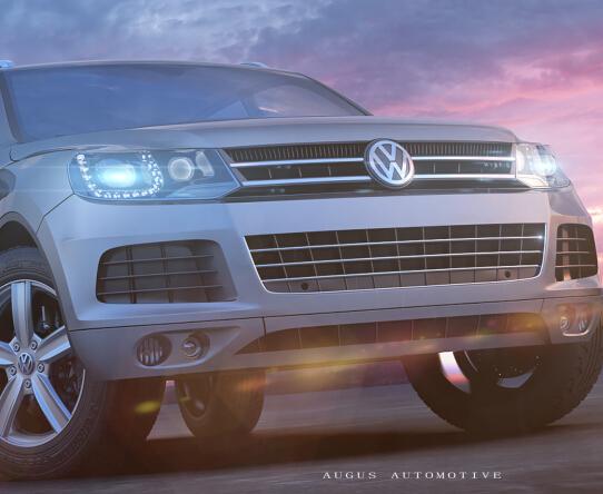Volkswagen Touareg CGI 真實汽車渲染