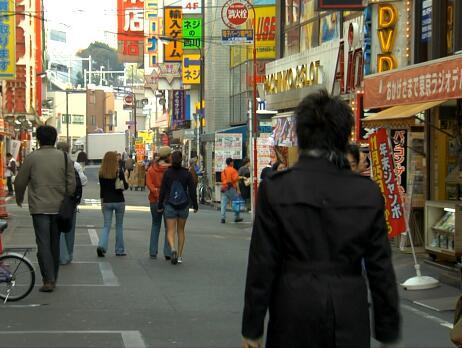 日本商业街实拍片段
