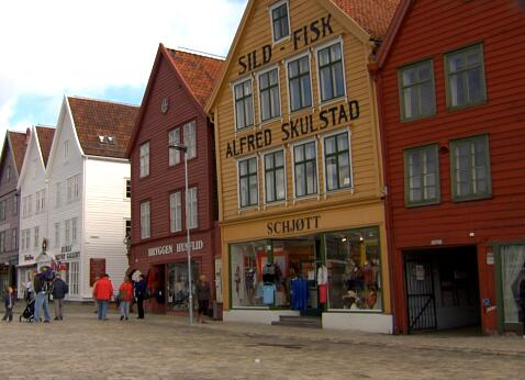 国外的沿街商业实拍片段