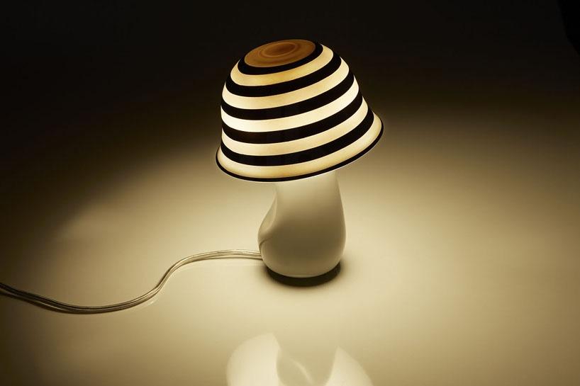 根據華特迪士尼幻想曲創作的蘑菇燈設計