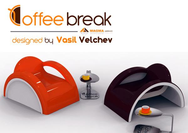 靈感來自咖啡杯勺的桌椅設計