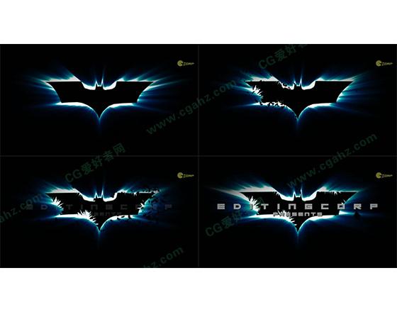 蝙蝠侠黑暗骑士标题效果AE模板