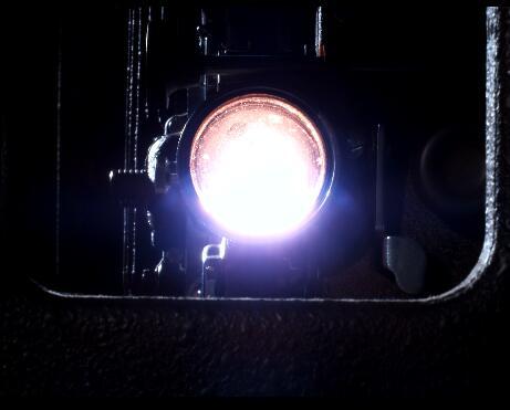 闪烁的摄像灯光实拍片段