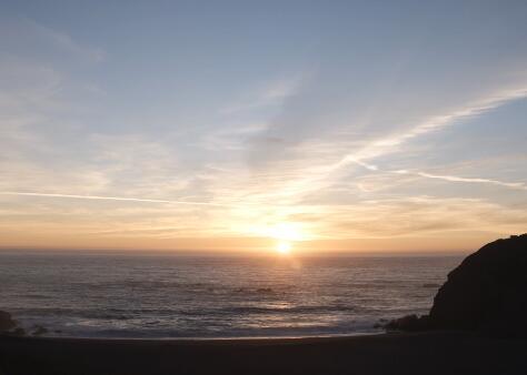 海边日出实拍片段