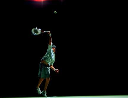 网球发球实拍片段