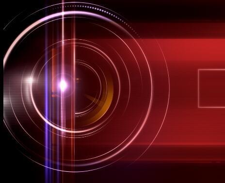红色带效果的视频背景素材
