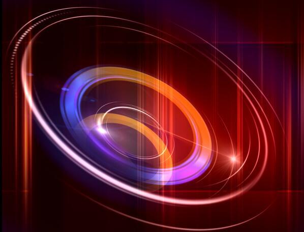 红色带旋转的视频背景素材