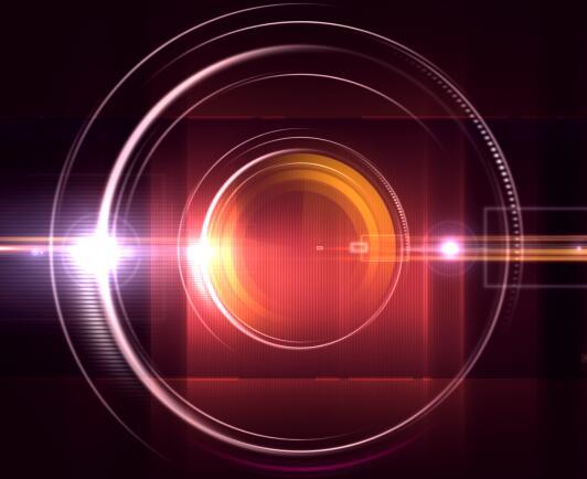 红色圆形的视频背景素材