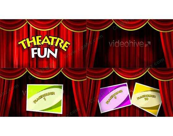 趣味十足的新年/儿童欢乐剧场AE工程