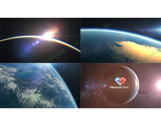 史詩般震撼大氣的地球邊緣開場片頭AE模板