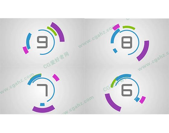现代简约风格的数字倒计时AE工程