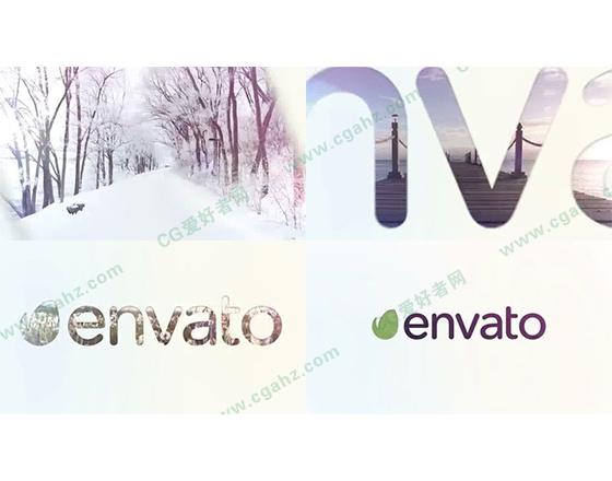 快速的柔光图像与logo揭示片头AE模