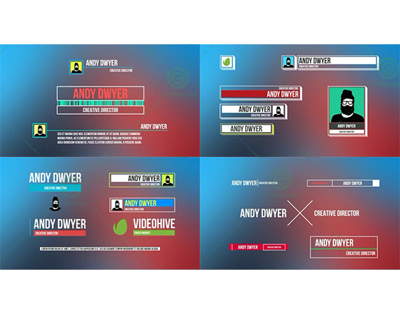 30枚别具风格的字幕条排版进出动画AE源文件