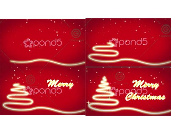 用线条制作简单的圣诞卡片AE源文件