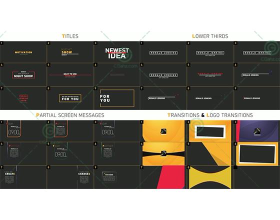100+通用视频元素设计素材包AE源文件