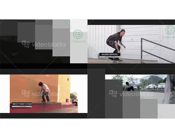 简单的图形转场和图形字幕条视频展示AE工程