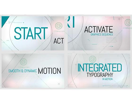 创意未来科技的文字排版展示动画AE工程