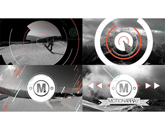 快速简短的运动图形标志展示动画AE模板