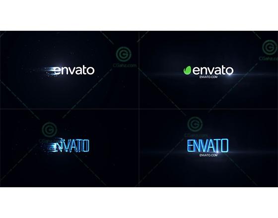震撼快速的光效过渡logo揭示AE模板