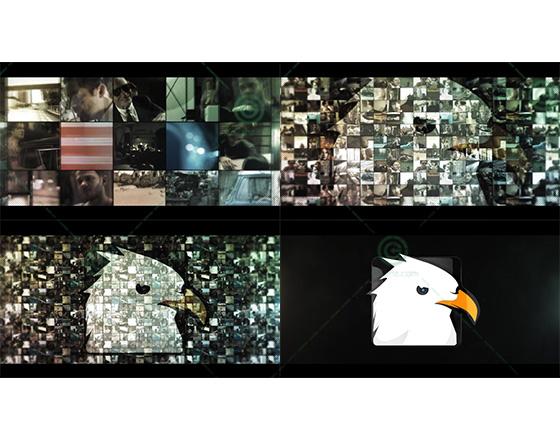 多内容组合成视频墙后揭示出logo标志的AE片头模板