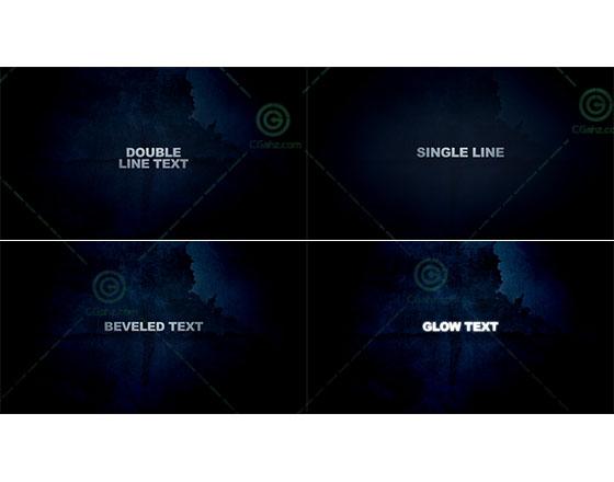 电影标题字幕展示AE工程
