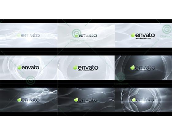 5款柔美飘逸的logo揭示开场AE模板