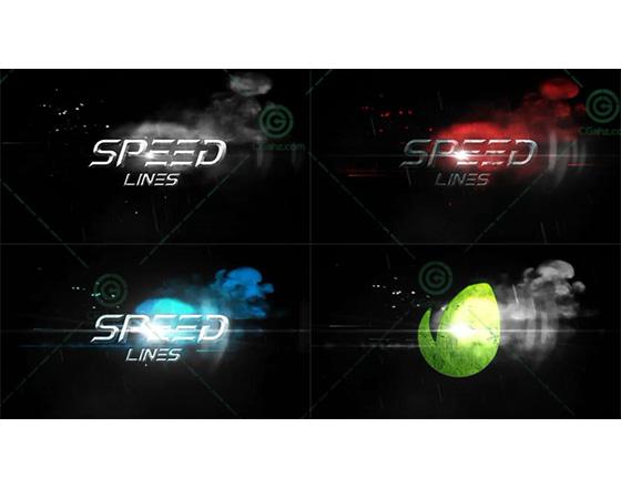 充满速度与激情的极速线条标题特效AE模板
