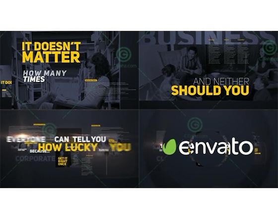 图像与文字排版结合的商务说明演示AE模板