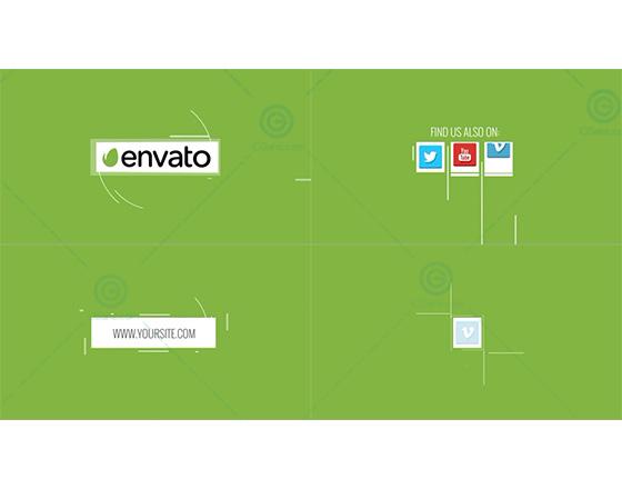 简约的扁平化社交媒体图标演绎设计AE模板