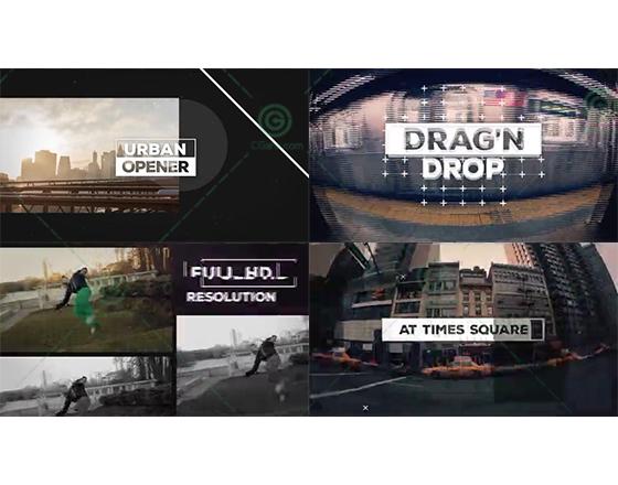 时尚快速的城市宣传开场片头AE模板