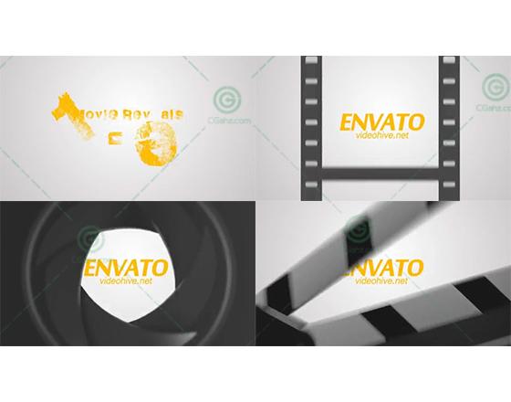 以电影为主题的标志展示开场AE模板